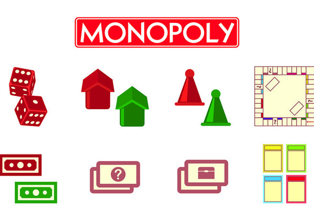 set of monopoly icons free vector download 425833 cannypic