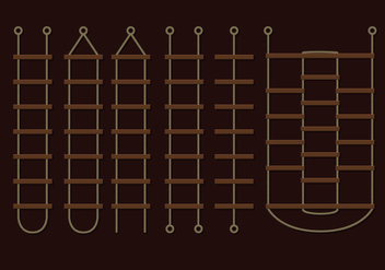 Brown Rope Ladder Vectors - vector gratuit #425913