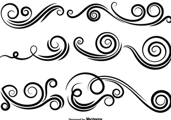 Vector Set Of Swirls - Free vector #425983
