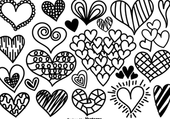 Vector Cartoon Hearts Icons - vector gratuit #425993