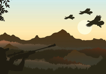 Wild Turkey Shoot Free Vector - бесплатный vector #426183