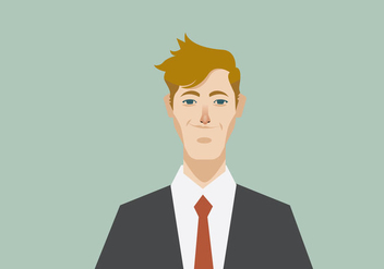 Headshot of Smiling Young Businessman Vector - Free vector #426193