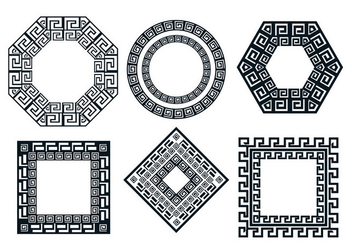 Greek key vector - Free vector #426243