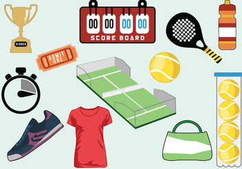 Tennis Icon Vector Set - бесплатный vector #426253