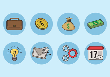 Business Icons Vector - vector #426273 gratis