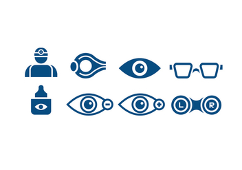Medical Eye Doctor Icons - vector gratuit #426283