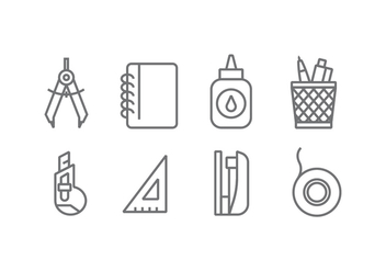 Office Tool Vector Icons - vector #426393 gratis
