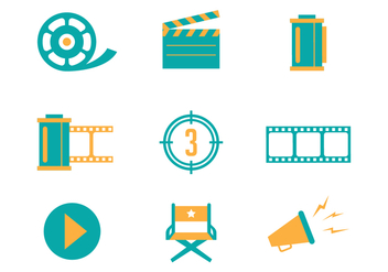 Free Cinema and Film Vector Icons - бесплатный vector #426443