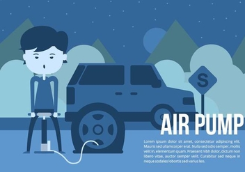 Car Tire Air Pump Background - vector #426483 gratis