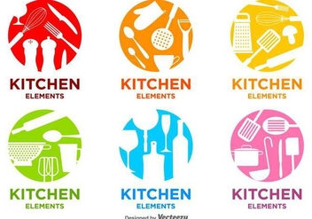 Bright Kitchen Vector Logos - vector #426503 gratis