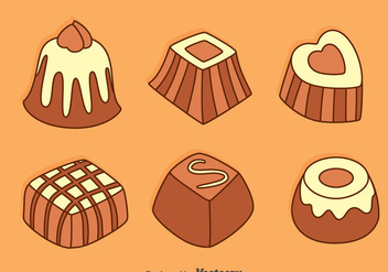 Hand Drawn Chocolate Snack Vectors - Free vector #426593