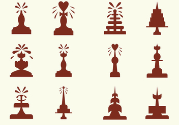 Fun Chocolate Fountain Vector Icons - Free vector #426633