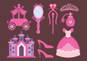 Princesa Design Elements - vector #426643 gratis