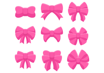 Free Hair Ribbon Collection - vector gratuit #426653