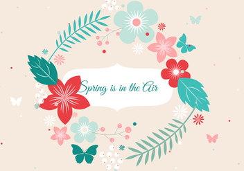 Free Vector Spring Flower Wreath - Kostenloses vector #426683
