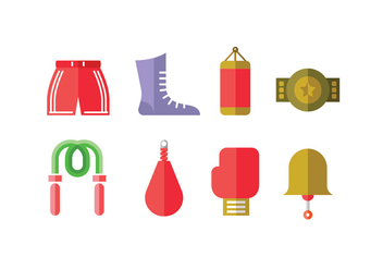 Boxing Championship Vector Icons - Free vector #426703