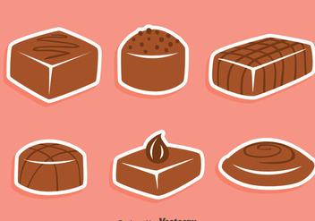 Yummy Chocolate Candy Vectors - Free vector #426803
