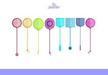 Fly Swatter Free Vector Pack - vector gratuit #426813