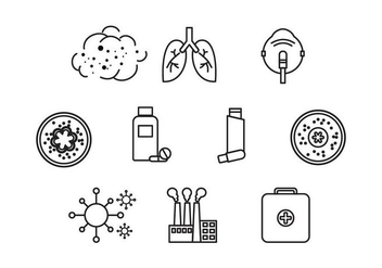 Free Asthma Icon Vector - Free vector #426823