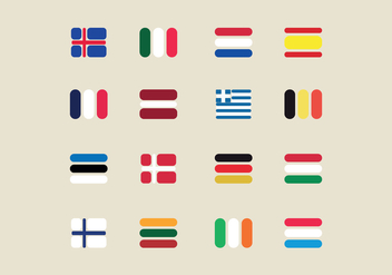 European Flags - vector #426853 gratis