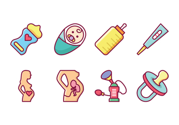 Free Maternity Vector Icons - бесплатный vector #426873