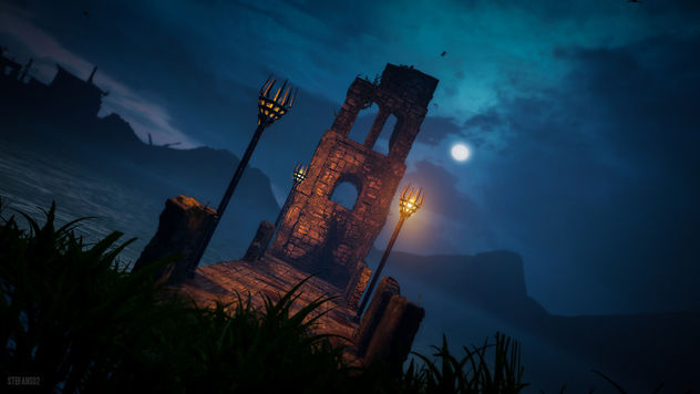 Middle Earth: Shadow of Mordor / At the Water at Night - image gratuit #427023