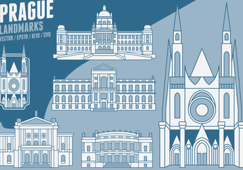 Prague Landmarks - vector #427053 gratis