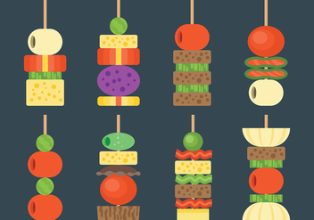 Free Canapes Icons Vector - Kostenloses vector #427083