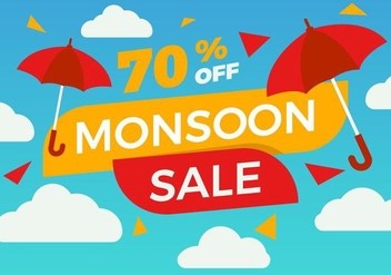 Free Monsoon Poster Sale Vector - Free vector #427093