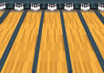 Free Bowling Lane Vector Background - Free vector #427133