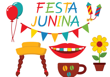 Festa Junina Icon Vector - vector #427143 gratis