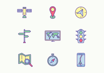 Navigation Icons - vector gratuit #427153