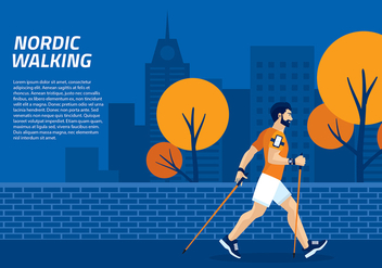 Nordic Walking Template Vector - Free vector #427253