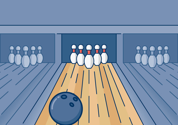 Bowling Arena Illustration - vector gratuit #427273