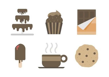 Free Delicious Chocolate Cake and Sweet Vectors - Free vector #427293