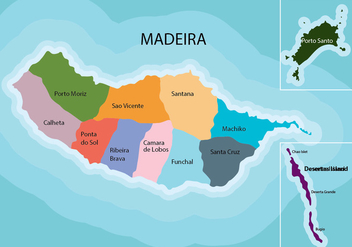 Madeira Map - vector #427303 gratis