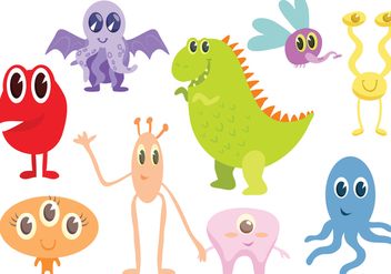 Free Monsters Vectors - бесплатный vector #427323