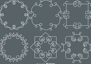 Vector Line Style Monograms - Free vector #427353