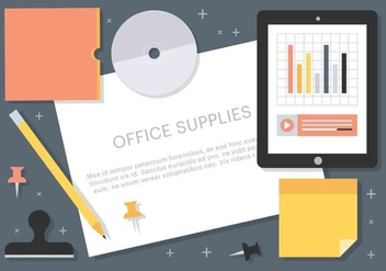 Free Vector Office Supplies - vector #427363 gratis