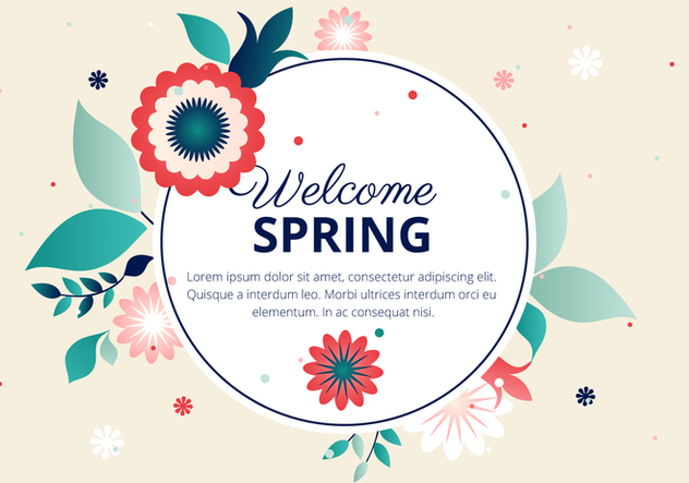 Free Spring Flower Vector Typography - Free vector #427383