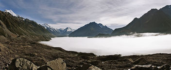 Mist over Tasman Lake - image #427393 gratis