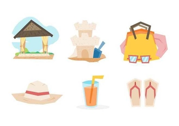 Free Outstanding Beach Holiday Vectors - Kostenloses vector #427423