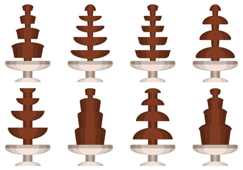 Chocolate Fountain Vector Collection - vector gratuit #427443