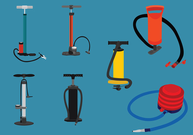 Air Pump Set Vector - Free vector #427453
