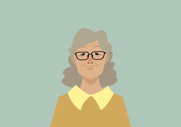 Headshot of Smiling Old Women Vector - Kostenloses vector #427493