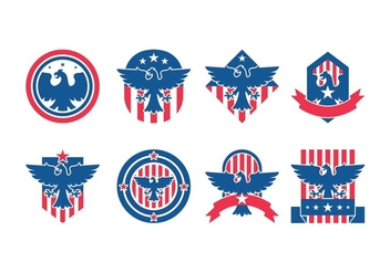 Eagle Seal Badge Vector Pack - vector gratuit #427663