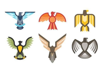 Free Elegant Eagle Badge Vectors - Free vector #427673