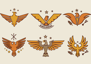 Eagle Seal Smbol Logo Vector - бесплатный vector #427803