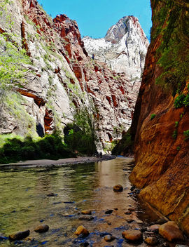 The Narrows, Virgin River, Zion NP 5-14 - image #427853 gratis