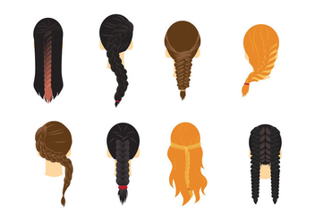 Plait Hair Vector - vector #428003 gratis
